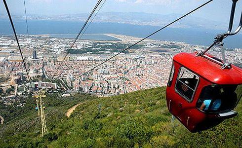 İzmir teleferik manzarası