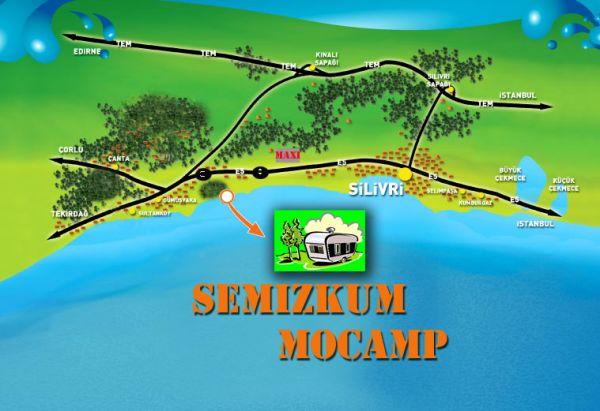 Semizkum Mocamp Yol Tarifi