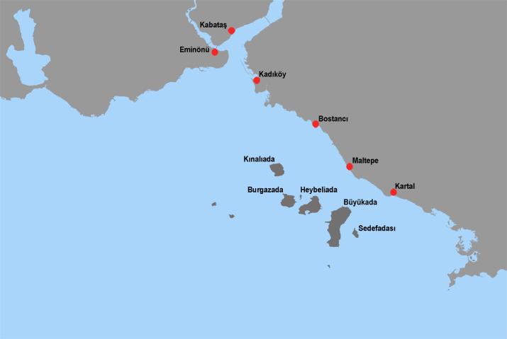 Adalara ulaşım